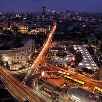 Beautiful view of Belgrade by night